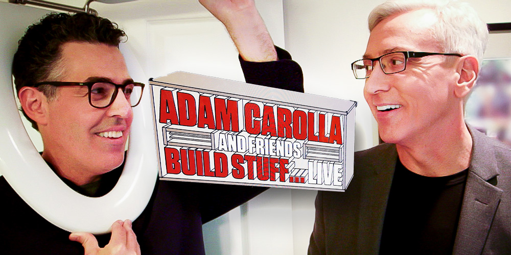 Adam Carolla and Dr. Drew Pinsky Build Stuff Live on Spike!