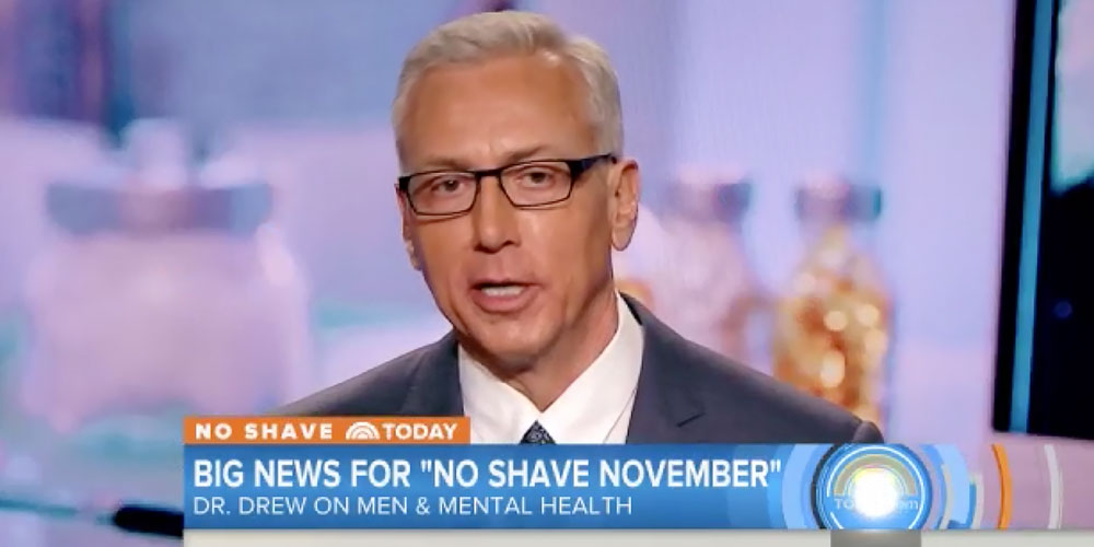 #NoShaveToday : Dr. Drew Shares Health Tips For Men On The Today Show