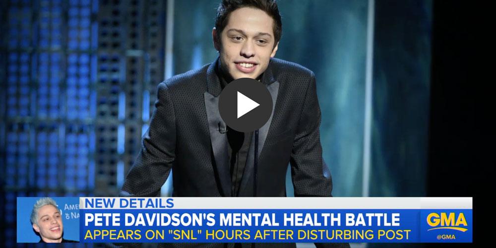 Dr. Drew Discusses Pete Davidson's Mental Health Battle on GMA