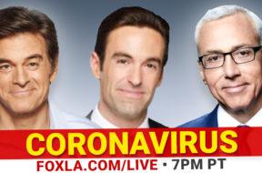 BANNER—Coronavirus—Dr-Oz-Dr-Drew-Elex-Michaelson-Fox-11-LA—-LIVE-promo